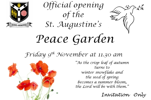 Garden of Peace Opening Service